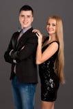 Portret van de mens en vrouw Royalty-vrije Stock Foto's