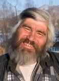 Portret van de Mens met Baard 2 Stock Foto