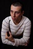 Portret van de mens met pijp Royalty-vrije Stock Fotografie