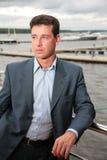 Portret van de mens op werf Royalty-vrije Stock Afbeelding