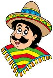 Portret van de Mexicaanse mens stock illustratie