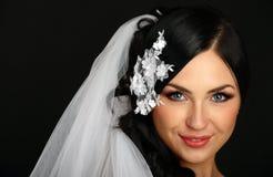 Portret van de mooie bruid stock afbeelding