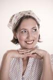 Portret van de mooie dame Stock Fotografie