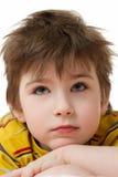 Portret van de nadenkende jongen Royalty-vrije Stock Foto
