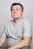 Portret van de oud-verouderde mens stock fotografie