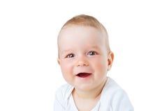 Portret van de oude baby van negen maanden Royalty-vrije Stock Foto's
