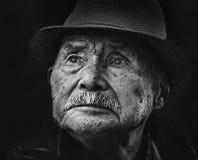 Portret van de oude mens Stock Foto