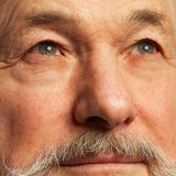 Portret van de oude mens met baard Royalty-vrije Stock Fotografie