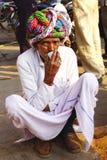 Portret van de oude mens in tulband. Royalty-vrije Stock Fotografie