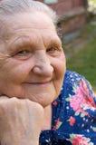 Portret van de oude vrouw Royalty-vrije Stock Foto