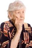 Portret van de oude vrouw stock foto
