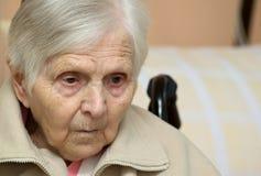 Portret van de oude vrouw. Royalty-vrije Stock Afbeelding