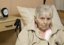 Portret van de oude vrouw. Stock Fotografie