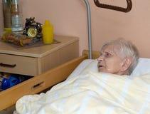 Portret van de oude vrouw. Royalty-vrije Stock Afbeeldingen
