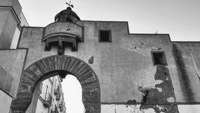 Portret van de oude vuurtoren van de stad van Rota royalty-vrije stock foto's