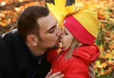 Portret van de papa en de dochter Royalty-vrije Stock Foto