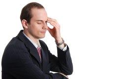 Portret van de peinzende uitvoerende mens Stock Foto's