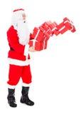 Portret van de stapel van de santaholding van gift Stock Foto's