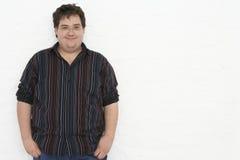 Portret van de Te zware Jonge Mens stock foto