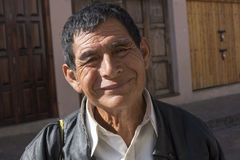 Portret van de vriendschappelijke glimlachende mens in Chiapas Royalty-vrije Stock Foto