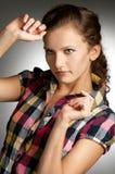 Portret van de vrouw Royalty-vrije Stock Foto's
