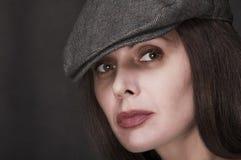 Portret van de vrouw Stock Afbeeldingen