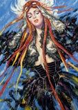 Portret van de vrouw stock illustratie