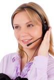 Portret van de vrouwelijke klantendienst stock afbeelding