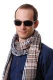 Portret van de zakenman met een sjaal Stock Foto's