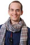 Portret van de zakenman met een sjaal Stock Foto