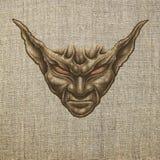 Portret van demon stock illustratie