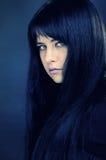 Portret van donkerbruin meisje Royalty-vrije Stock Afbeelding