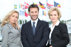 Portret van drie bedrijfsmensen Royalty-vrije Stock Foto's