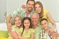Portret van drie generaties Stock Foto's
