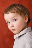 Portret van drie jaar oud stock foto's
