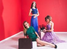 Portret van drie jonge sexy vrouwen Royalty-vrije Stock Foto's