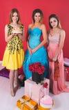Portret van drie jonge sexy vrouwen Stock Fotografie