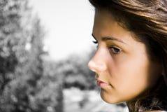 Portret van droevige tiener Royalty-vrije Stock Foto's