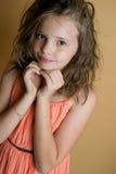 Portret van een 8 éénjarigenmeisje Stock Afbeelding