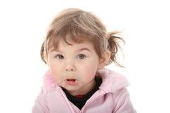 Portret van een 2 éénjarigenmeisje Stock Afbeeldingen