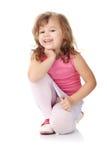 Portret van een 5 éénjarigenmeisje Royalty-vrije Stock Foto's