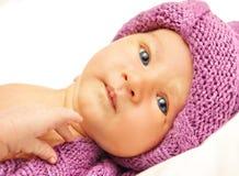 Portret van een aanbiddelijke baby Stock Foto's