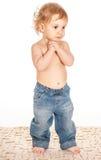Portret van een aanbiddelijke baby Stock Afbeelding