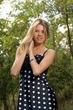 Portret van een aantrekkelijk jong blonde Stock Foto
