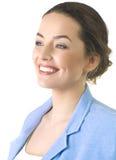 Portret van een aantrekkelijke bedrijfsvrouw. Royalty-vrije Stock Afbeeldingen