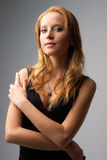 Portret van een aantrekkelijke jonge vrouw Royalty-vrije Stock Afbeelding