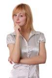 Portret van een aantrekkelijke vrouw Royalty-vrije Stock Foto