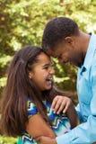 Portret van een Afrikaanse Amerikaanse familie Stock Fotografie