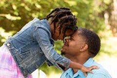 Portret van een Afrikaanse Amerikaanse familie Stock Foto