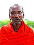 Portret van een Afrikaanse belangrijkste strijder royalty-vrije stock foto's